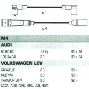 Audi 80 ,8cb4, 1.6 Inj, Formula Power,10mm, Race Performance Ht Plug Leads.fp814