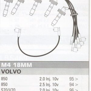 Ignition Leads Fit Volvo S70/v70 850 10v Formula Power 10mm Race Performance Set