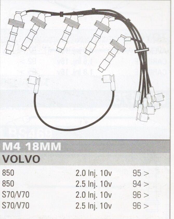 Ignition Leads Fit Volvo S70/v70 850 10v Formula Power 10mm Race Performance Set