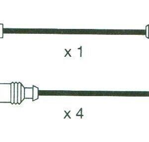 Ignition Leads Vw Polo 1.6. 94>95 Formula Power 10mm Race Performance Set Fp564