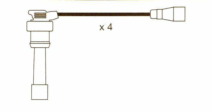 Mitsubishi Lancer, Colt 1.8,16v, 10mm Formula Power, Race Performance Plug Leads