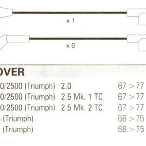 Triumph 2000. 2500, 67>77.  6cyl. Formula Power 10mm Race Performance Lead Set.