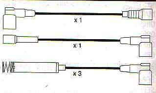 Vauxhall/opel Belmont Nova Cavalier Kadette E 10mm Race Performance Ht Lead Sets