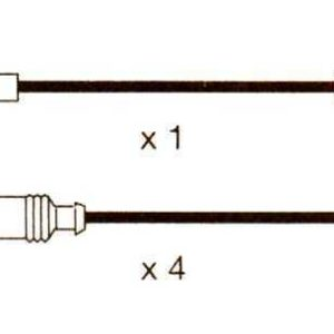 Audi Coupe,1.8  Formula Power 10mm Race Performance Plug Lead Set. Fp816