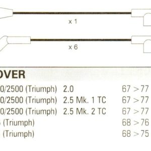 Rover Triumph Gt6 Tr6 2000/2500 10mm Formula Power, Race Quality Ht Leads Fp202