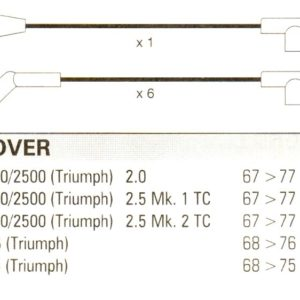 Triumph 2000. 2500, 67>77.  6cyl. Formula Power 10mm Race Performance Lead Set.