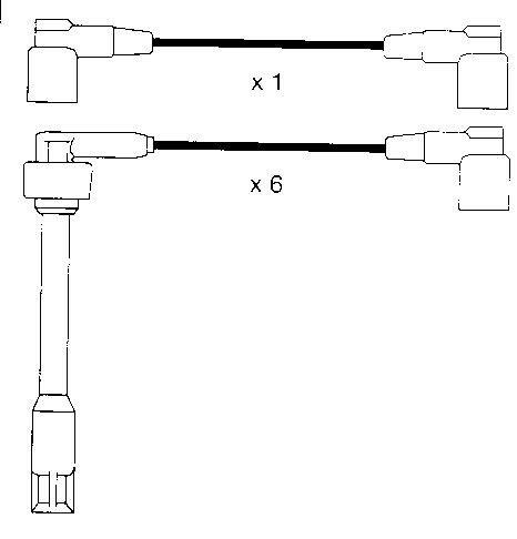Ignition Leads Bmw M5 3.6,e34 88>92  6cyl Formula Power 8mm Race Performance Set
