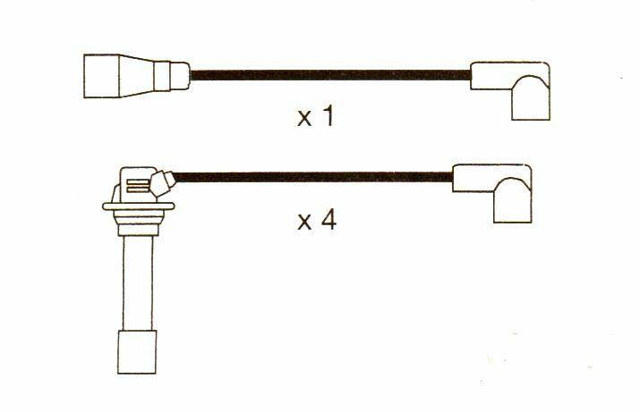 Mazda 626,(gd) Mk3. 16v 10mm Formula Power Race Performance Ht Plug Leads. Fp882