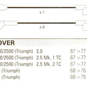 Rover Triumph Gt6 Tr6 2000/2500 10mm Formula Power, Race Quality Ht Leads Fp202