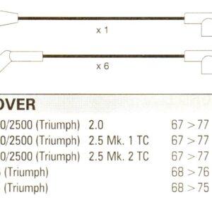 Triumph Gt6 Tr6,  Formula Power 10mm Performance Ht Lead Set.