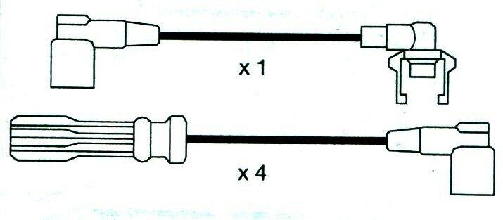 Volvo, 740, (744, 745) Formula Power 10mm Race Performance Ht Plug Lead Sets.