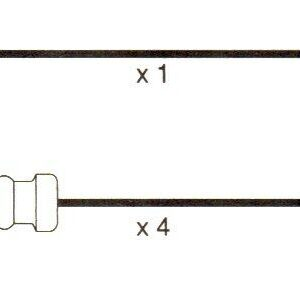Volvo 740 Mk1, (744, 745) 10mm Formula Power Race Performance Lead Sets. Fp898