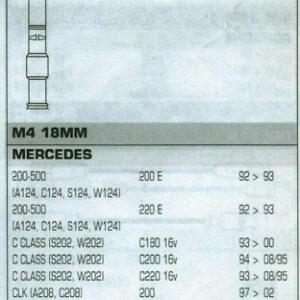 Mercedes Clk200 A208 C208 Formula Power,10mm. Race Performance Lead Set.